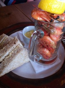 Prawns at The Pigs.