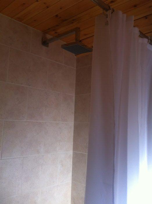 Pod shower.