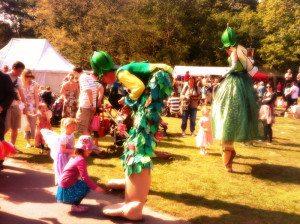 Giant Elf & Fairy at this year's Fairy Fair.