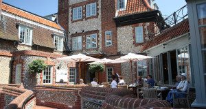 Al fresco dining at The Blakeney Hotel
