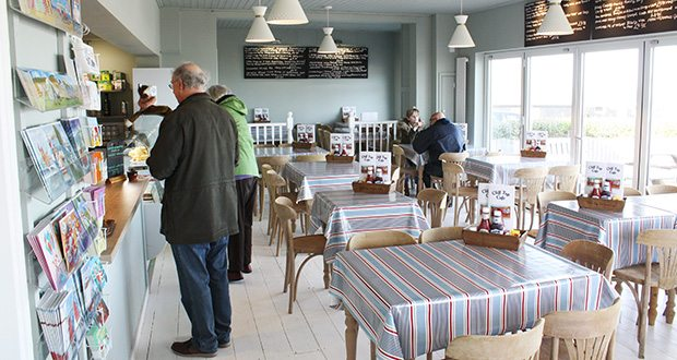The Clifftop Café in Overstrand, Norfolk.