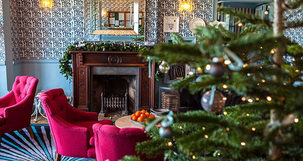 Christmas at Titchwell manor Hotel in North Norfolk.
