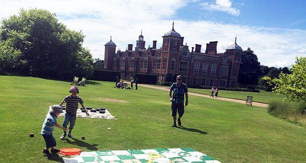 Garden games at Blickling Hall in Norfolk.