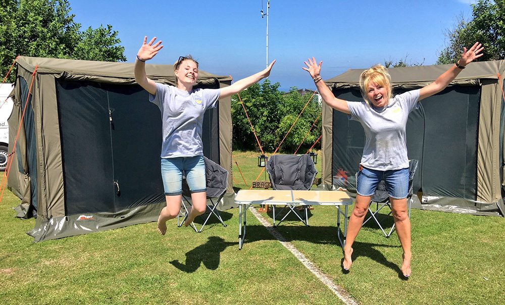 The MarGin tent elves having a mad moment!