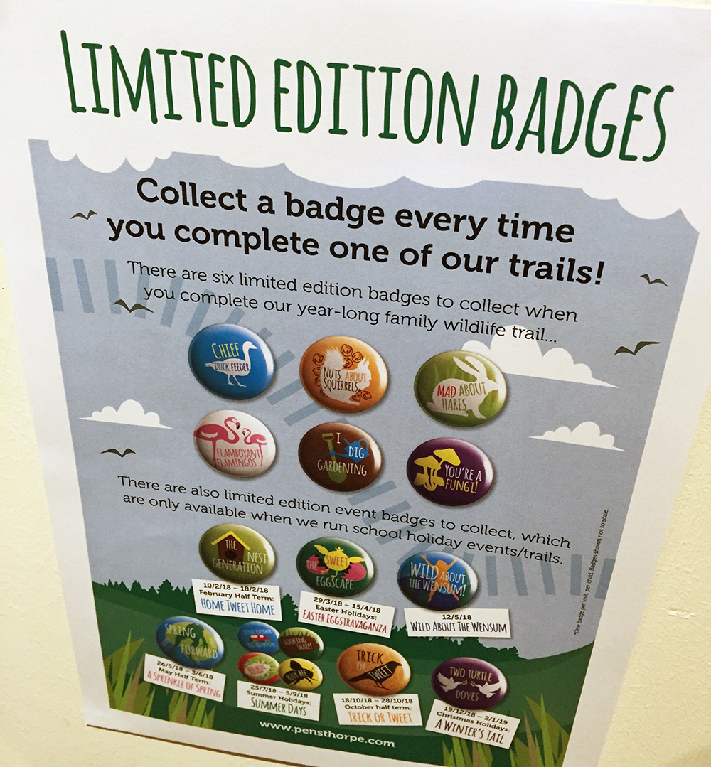 Pensthorpe limited edition badges.