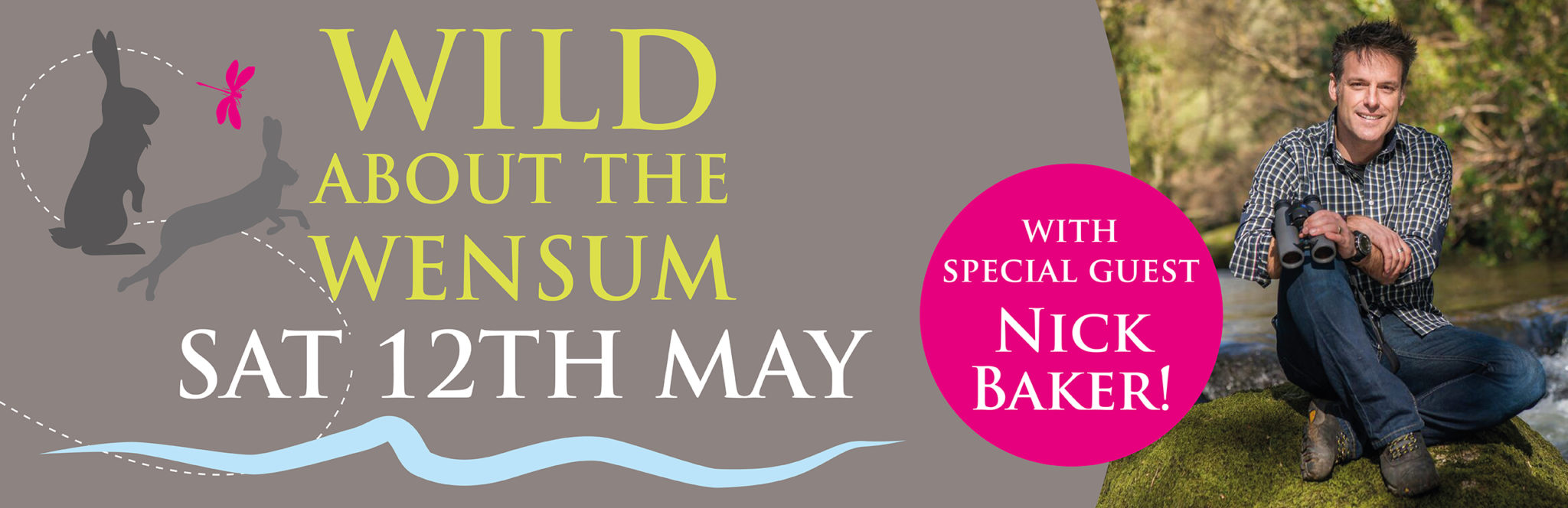 Nick Baker, will be opening Pensthorpe Conservation Trust's annual community event Wild About The Wensum this year.