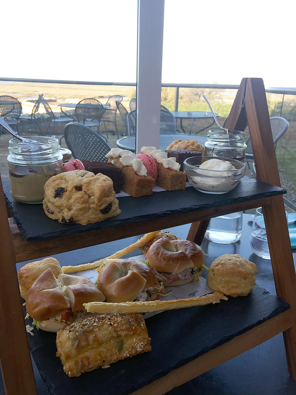 Afternoon Tea with added sea views.